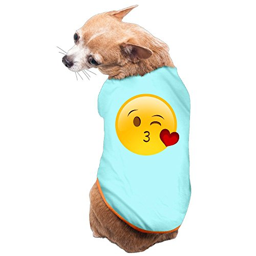 Greenday Give You Kiss Emoji Cool Doggie Pets Costumes Size S SkyBlue - Diy Costumes For Pets