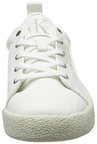 Blanc Jeans Calvin Twill Klein Basses Gala Sneakers Cassé Femme ofw 000 a0q56wq