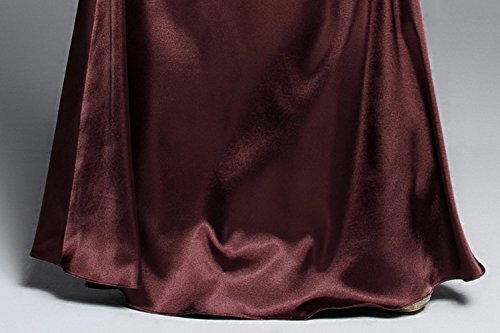 Cotylédons Mince Robe Col Rond Manches Demi De Balle Robes De Soirée Slim Fit Violet