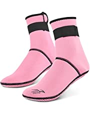Dalış Çorapları 3mm Neopren Plaj Su Çorapları Termal Wetsuit Botları Rafting için Kaymaz Dalış Çorapları Şnorkelle Dalış ken Yüzme -Sazoley