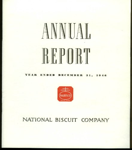 - National Biscuit Company Nabisco Annual Report 1946