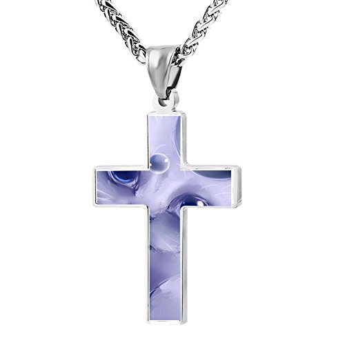 Gjghsj2 Cross Necklace Pendant Religious Jewelry 3D Art Cat For Men Wome -