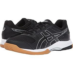 ASICS Women's Gel-Rocket 8 Volleyball-Shoes, Black/Black/White, 8 Medium US