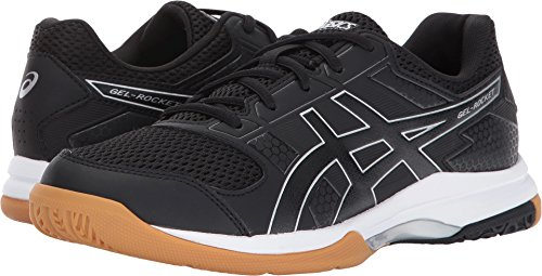 ASICS Womens Gel-Rocket 8 Volleyball Shoe, Black/White, 8.5 Medium -