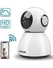 1080P Cámara IP WiFi Cámara de Vigilancia Interior Camaras de Seguridad Baby Monitor con Visión Nocturna Detección de Movimiento Full HD Audio Bidireccional