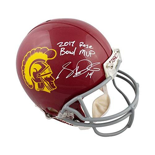 Sam Darnold 2017 Rose Bowl MVP Autographed USC Proline F/S Football Helmet BAS