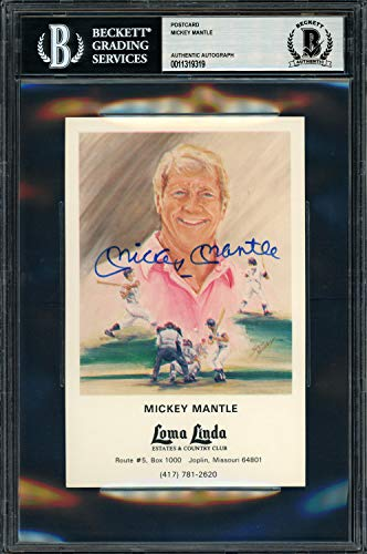 Mickey Mantle Autographed Signed Memorabilia Loma Linda Country Club Postcard New York Yankees - Beckett Authentic from Sports Collectibles Online