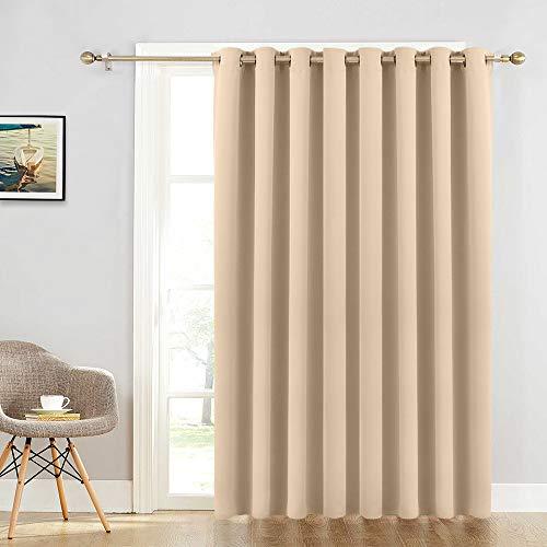 Sliding Door Curtain Drapes - Room Darkening Light Blocking Extra Long Wide Solid Panel, Outdoor Indoor Privacy Curtains Window Dressing for Living Room / Patio Door, 100