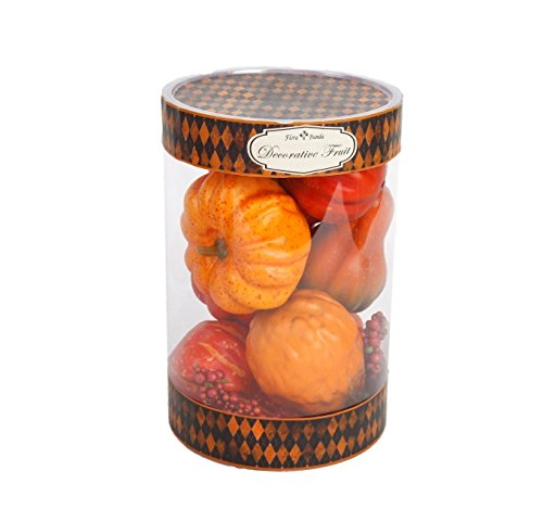 Flora Bunda FT-2547A 8pc Pumpkins in Cylinder Box-12 boxes by Flora Bunda