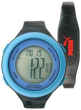 PUMA Men's PU910961005 Fit Blue LCD Watch