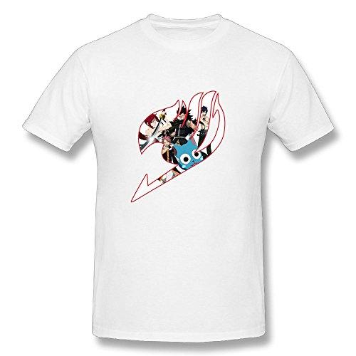TisEEaZs Mens Tshirts-Classic Fairy Tail White XL