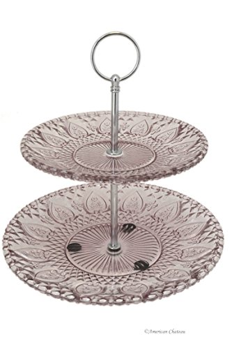 Colored glass cake stand the amazing cake multifunctional for Colored glass cake stand