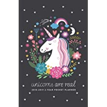 2018-2019 2-Year Pocket Planner; Unicorns are Real: 2-Year Pocket Calendar and Monthly Planner (2018 Daily, Weekly and Monthly Planner, Agenda, Organizer and Calendar for Productivity)