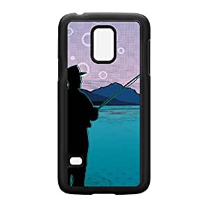 Fishing Black Hard Plastic Case Snap-On Protective Back Cover for Samsung? Galaxy S5 Mini by Gadget Glamour + FREE Crystal Clear Screen Protector