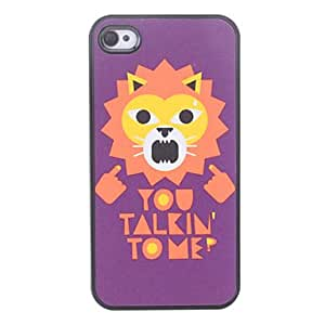 TY Lion Pattern Hard Case for iPhone 4/4S