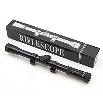 4x20 Rifle Scope with attached mounts