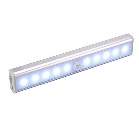 Detector de movimiento para armarios de ropa, mejora la luz interior USB, la 10