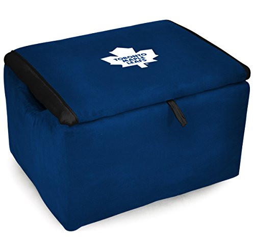 (Imperial Officially Licensed NHL Furniture: Microfiber Storage Bench/Ottoman, Toronto Maple Leafs)