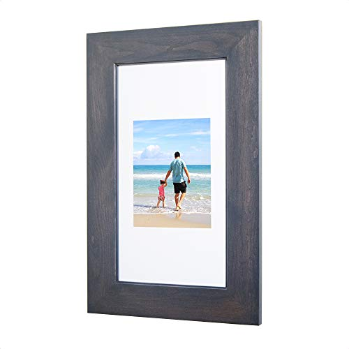 (14x24 Gray Concealed Medicine Cabinet (Extra Large), a Recessed Mirrorless Medicine Cabinet with a Picture Frame Door)