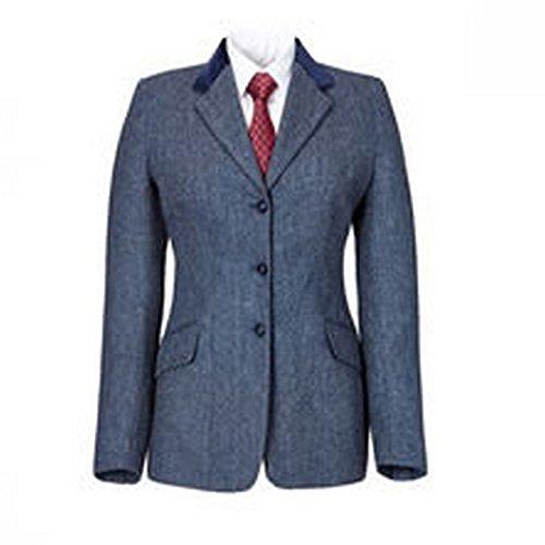 Ladies Tweed Jacket - Caldene Womens/Ladies Silverdale Tweed Competition Jacket (44 inch) (Blue)