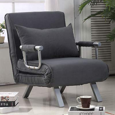 Convertible Sleeper Armchair Foldable Sofa Bed Lounge Couch w/Pillow