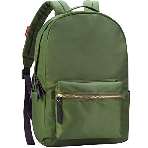 HawLander Backpack Casual Daypack for Women School Bag for Girls - Lightweight (Olive Green) (Green Cute Backpack)