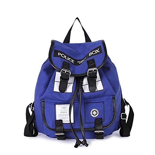 E.a@market Doctor Who Canvas Shoulders Backpack ()