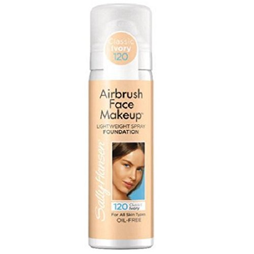 Sally Hansen Airbrush Face Makeup Foundation, Classic Ivory, 1 oz