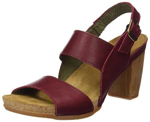 El Naturalista N5020 Ibon Kuna, Zapatos de Tacón con Punta Abierta para Mujer Rojo (Rioja)