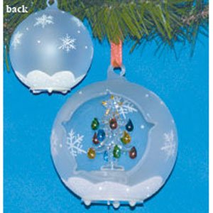 christmas globe ornament led lighted glass ball christmas tree decoration hand painted glittery snowflakes