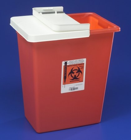 Covidien Multi-Purpose Sharps Container Red Base, 17.5H X 15.5W X 11D Inch