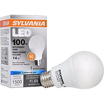 SYLVANIA, 100W Equivalent, LED Light Bulb, A19 Lamp, 1 Pack, Daylight Design