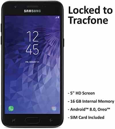 Tracfone Samsung Galaxy J3 Orbit 4G LTE Prepaid Smartphone (Locked) - Black - 16GB - Sim Card Included - CDMA