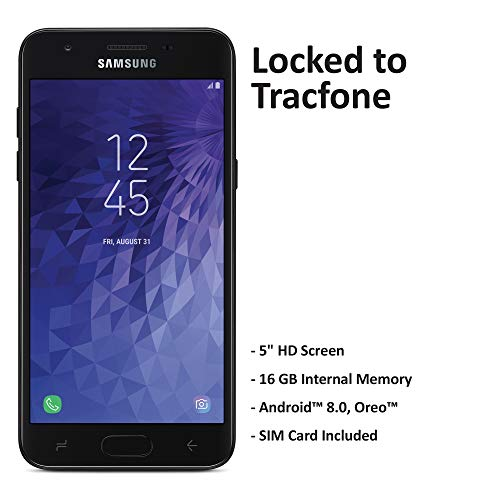 Tracfone Carrier-Locked Samsung Galaxy J3 Orbit 4G LTE Prepaid Smartphone - Black - 16GB - Sim Card Included - CDMA
