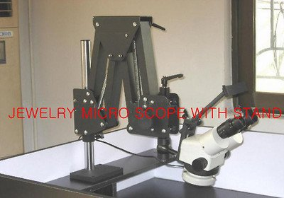 Gowe 7x-45x Jewelers Microscope Gem Diamond Setting Microscope Jewelry Micro Scope With Stand