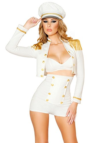 Sexy Sailor Costumes (Roma Costume Women's 3 piece Sultry Sailor Babe, White, Small)