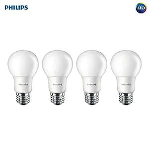 Philips 455717 LED Non-Dimmable A19 Frosted Light Bulb: 1500-Lumen, 5000-Kelvin, 14-Watt (100-Watt Equivalent), E26 Base, Daylight, 4-Pack