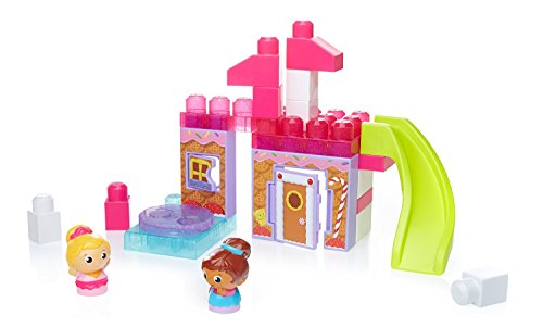 Mega Slide - Mega Bloks Spin 'n Play Gingerbread Park Playset