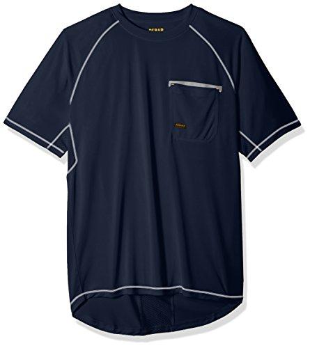Ariat Men's REBAR Short Sleeve Sunstopper Crew, Brindle, XX-Large Ariat Short Sleeve Shirt
