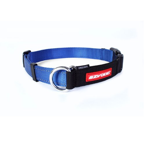 Ezydog Checkmate Collar, Large, Blue