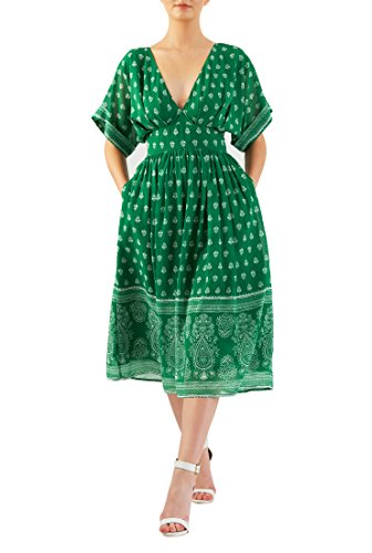 Ruched Georgette Dress - 1