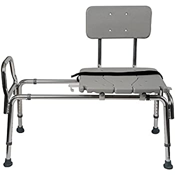 Amazon Com Duro Med Heavy Duty Sliding Transfer Bench Shower Chair With Cut Out Seat And