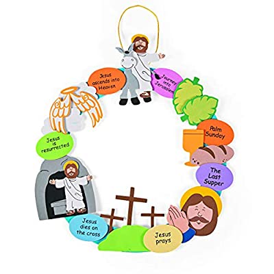 Religious Easter Wreath Craft Kit - Crafts for Kids and Fun Home Activities: Arts, Crafts & Sewing