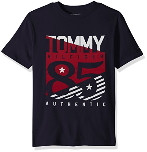 Tommy Hilfiger Little Boys' Short Sleeve Graphic T-Shirt, Venn Swim Navy, 6 by Tommy Hilfiger