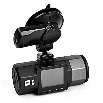 E-prance New Ambarella A7 FHD 1296P A95A Car DVR Camera + Car Plate Stamp + GPS Logger + Wide 170 Degree Lens + G-Sensor + H.264 + Lane Departure Warning System + AV Out