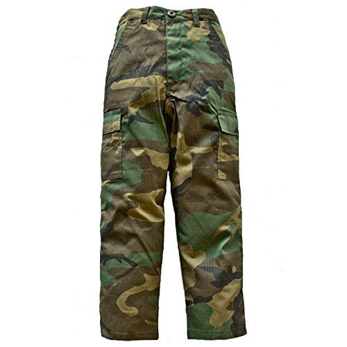 (Trendy Apparel Shop Youth Child's Battle Dress Uniform Camouflage Print Pants - BDU - M )