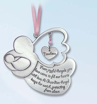 amazon com pretty guardian angel baby girl crib medal 4 pewter