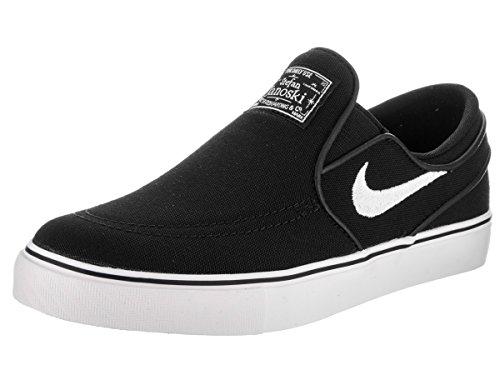 NIKE Kids Stefan Janoski CNVS Slip (GS) Black/White Skate Shoe 5.5 Kids US