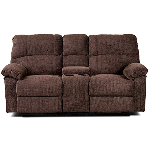 - Fegov Classic and Modern Luxurious Upholstery of Chenille Recliner Set - Reclining Sofa, loveseat, and Chair Cocoa Color (Brown Hippo)