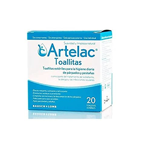 ARTELAC TOALLITAS ESTERILES PARPADOS 20U